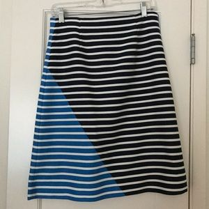 Jcrew stripe A-line skirt